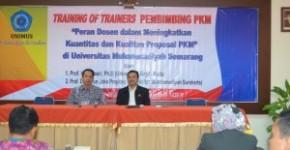 Sambutan pembukaan oleh WR III dan Ketua Rayon I Jawa Tengah